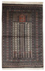 Pakistan Boukhara 2Ply Tapis 95X150 D'orient Fait Main Noir/Marron Foncé (Laine, Pakistan)