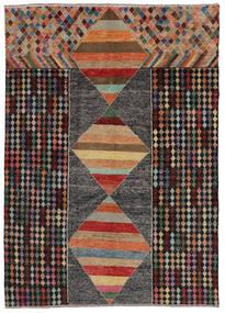 Moroccan Berber - Afghanistan Tapis 209X293 Moderne Fait Main Noir/Marron Foncé (Laine, Afghanistan)