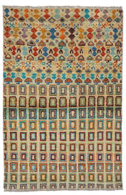 Moroccan Berber - Afghanistan Tapis 92X142 Moderne Fait Main Vert Foncé/Turquoise Foncé (Laine, Afghanistan)