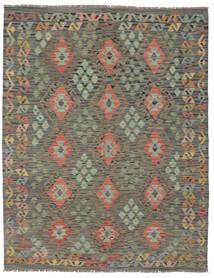 Kilim Afghan Old Style Tapis 156X197 D'orient Tissé À La Main Vert Foncé/Marron Foncé (Laine, Afghanistan)