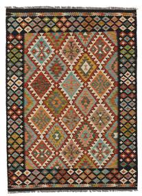 Kilim Afghan Old Style Tapis 149X205 D'orient Tissé À La Main Noir/Marron Foncé (Laine, Afghanistan)