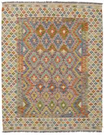 Kilim Afghan Old Style Tapis 160X203 D'orient Tissé À La Main Marron Foncé/Marron (Laine, Afghanistan)