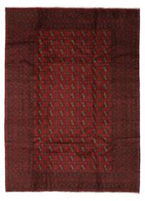 Afghan Tapis 204X280 D'orient Fait Main Noir/Beige (Laine, Afghanistan)