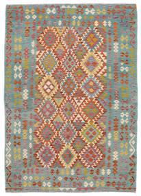 Kilim Afghan Old Style Tapis 172X240 D'orient Tissé À La Main Vert Foncé/Marron Foncé (Laine, Afghanistan)