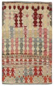 Moroccan Berber - Afghanistan Tapis 108X187 Moderne Fait Main Marron Foncé/Beige (Laine, Afghanistan)